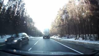 preview picture of video 'Droga krajowa nr 19 - odc. Sokółka - Białystok. Styczeń 2013'