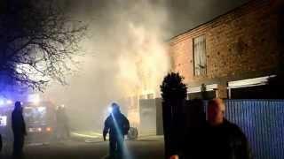 preview picture of video 'Pożar budynku w Żylicach'