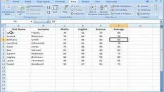 Excel 2007   Sorting Data In Single Columns And Whole Tables