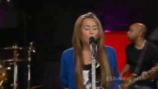 Miley Cyrus The Climb live AOL
