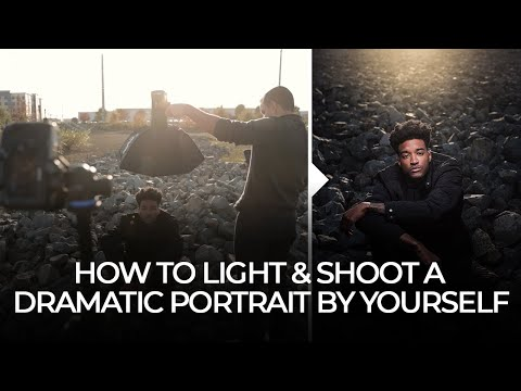 How to Light & Shoot a Dramatic Portrait by Yourself - Full Behind the Scenes Tutorial