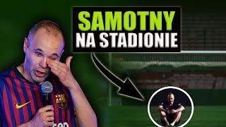 Samotna NOC Iniesty na murawie Stadionu.. Wzruszające pożegnanie z Barceloną