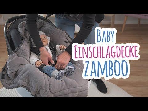 Baby Einschlagdecke für Babyschale und Babywanne von Zamboo   babyartikel.de