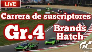 🔴 Directo de Gran Turismo Sport - Carrera de subs con Gr.4 en Brands Hatch