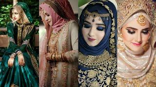 Islamic Wedding Bridal Hijab Ideas, Stylish Bridal Hijab Ideas