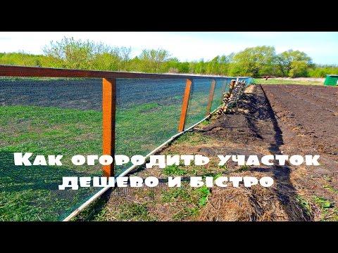 Как огородить участок дешево и быстро