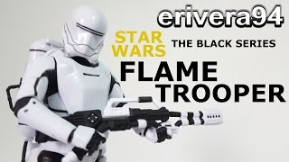 Star Wars Black Series First Order Flametrooper figure Review Force Awakens