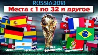 Итоговая таблица ЧМ 2018 с 1 по 32 место. Все чемпионы мира. Лучшие игроки. Место сборной России.
