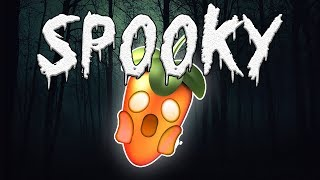 IM SPOOKED! MAKING A DARK TRAP BEAT IN FL STUDIO!