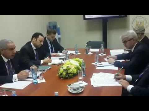 المهندس/طارق قابيل وزير التجارة والصناعة خلال منتدى سان بطرسبرج الاقتصادى الدولى بروسيا