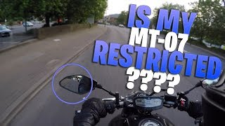 LAD KNOCKED OFF HIS MOTORCYCLE | MT07 RESTRICTED?
