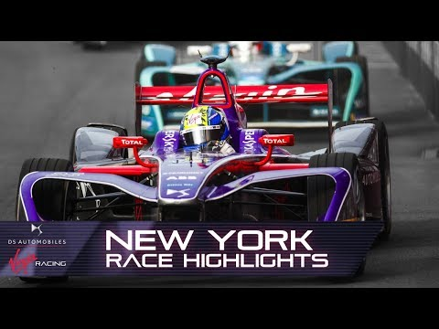 Formula E New York City E-Prix Race Highlights! (DS Virgin Racing S4 R12)
