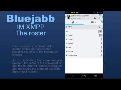 Video of Bluejabb IM XMPP/Jabber Trial