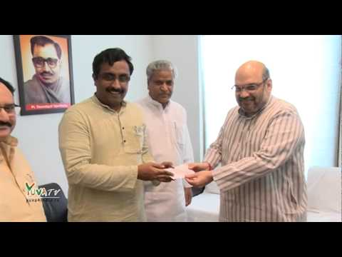 Shri Ram Madhav joins BJP in the presence of BJP President Shri Amit Shah - 10th July 2014