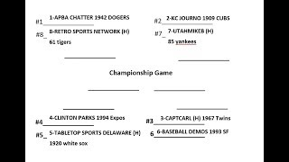 FOC Baseball Tournament A Diamond On The Diamond 1942 Brooklyn Dodgers At 1961 Detroit Tigers