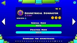 GEOMETRICAL DOMINATOR 2.1 RM VER | Geometry Dash 2.11 : Geometric Dimension - Lemons (Demon?)