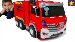 Про Пожарные Машинки Роботы Трансформеры Грузовики трансформируются Toys Transformer Trucks RC