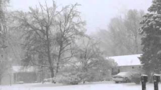 Heavy Snow in Bowling Green, KY at 7:30AM 1/22/16