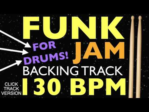 Funk Backing Track For Drums With A Metronome - Drumless