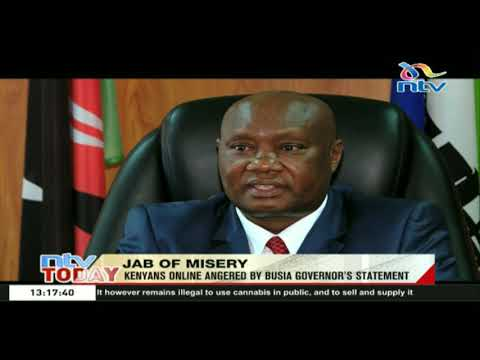 Jab of Misery: Kenyans online angered by Busia governor's statement
