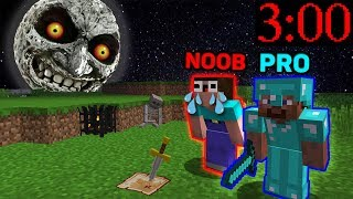 Minecraft NOOB vs PRO : SCARY NIGHT IN MINECRAFT ! ANIMATION
