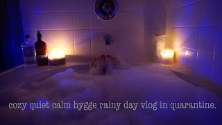 HYGGE VLOG: COZY, CALM, RAINY DAY STAYING HOME