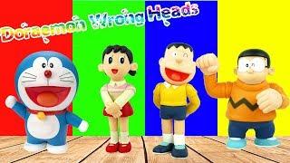 Doraemon Wrong Heads with Nobita, Shizuka and Jaian Wrong Body Finger Family Song - Lido TV