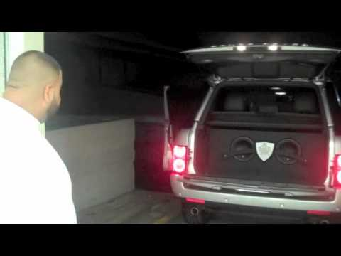 DJ Khaled Picks Up His 2011 Range Rover (w| JL Audio System)