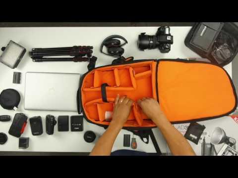 AmazonBasics – Cámara réflex digital y mochila para portátil Interior anaranjado Negro