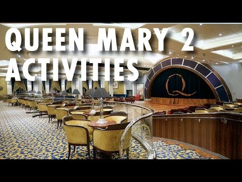 Queen Mary 2 Tour & Review (2014): Activities ~ Cunard Cruise Line ~ Cruise Ship Tour & Review