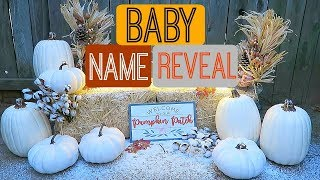 BABY NAME REVEAL - Video Youtube