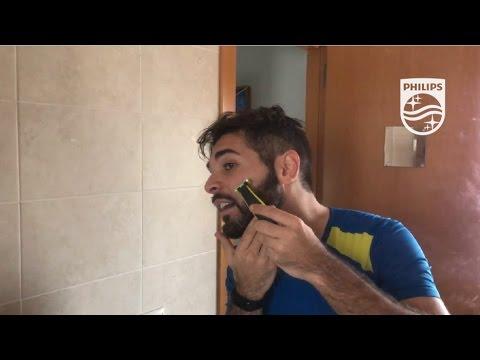 Perfilando mi barba en seco con Philips OneBlade #EstoEsOneBlade