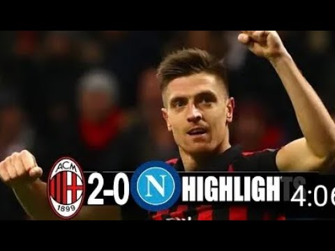 Milan vs Napoli 2-0 All goals and Highlights 2019 | Copa Italia |