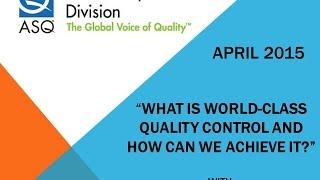 ASQ LED April 2015 World Class Quality Martin Hinckley