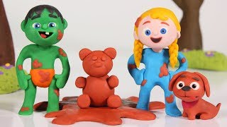 FUNNY KIDS PLAY WITH MUD  ❤ Play Doh Cartoons For Kids