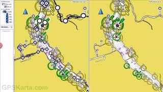 Карта глубин горьковского водохранилища для гармин
