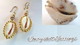 DIY Cowry Shell Earrings 2020/ How To Make Elegant Cowry Shell Earrings Tutorial 2020