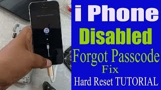 iphone 6s (clone) hard reset itunes || Iphone Disabled / Forgot Passcode iPhone Fix
