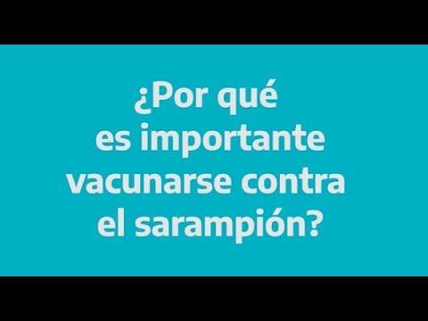 Video educativo. Refuerzan campaña de vacunación contra el sarampión en la Provincia