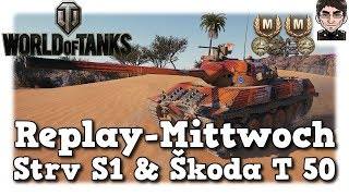 World of Tanks - Strv S1 & Škoda T 50, jeder auf seine Art [deutsch | Replay]