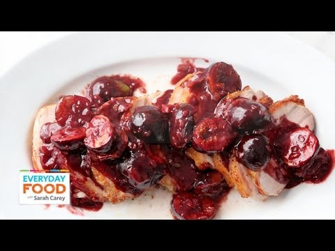 Pork Loin with Figs and Port Sauce | Everyday Food with Sarah Carey