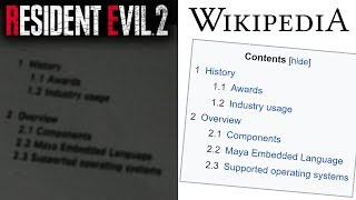 Did RESIDENT EVIL 2 Plagiarize from Wikipedia?