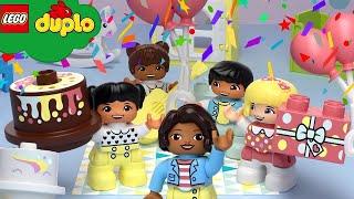 Learn With LEGO DUPLO | Happy Birthday | Nursery Rhymes & Kids Songs | LEGO Videos