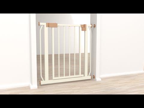 TecTake - Barrera de seguridad para puertas y escaleras para niños perros