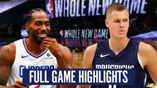 LOS ANGELES CLIPPERS vs DALLAS MAVERICKS - FULL GAME HIGHLIGHTS | 2019-20 NBA SEASON