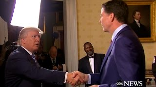 Trump Greets FBI Director James Comey at White House