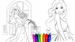 Coloring Pages BARBIE Princess Chelsea Book Children Videos For Kids Learning Colors