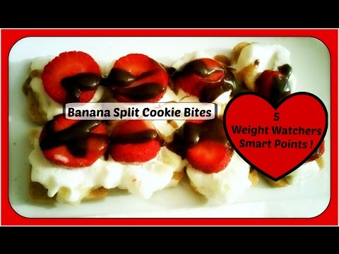 Weight Watchers Smart Points Dessert Recipe // 5 SP // Banana Split Cookie Bites!