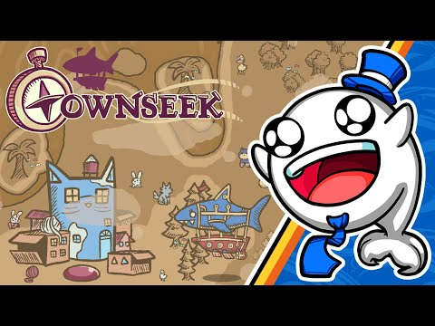 Townseek is an adorable game about a shark exploring the world by airship