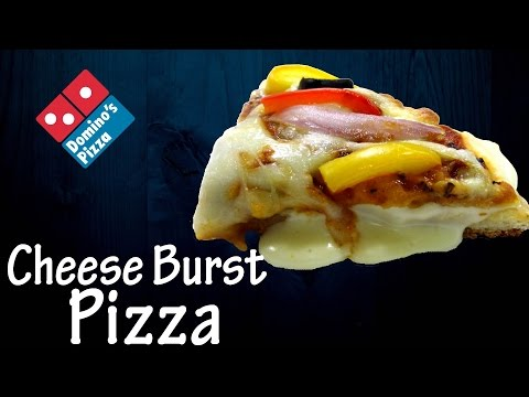 Make Cheese Burst Pizza like Domino's at home !!! | Recipe of cheese sauce | Simply yummylicious…
